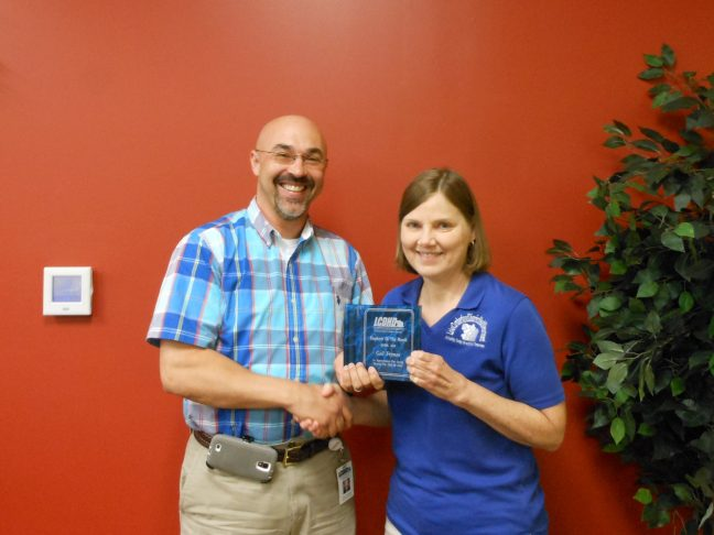 Pictured L to R: Shawn D. Crabtree, Executive Director; Gail Fryman, Office Manager, Clinton