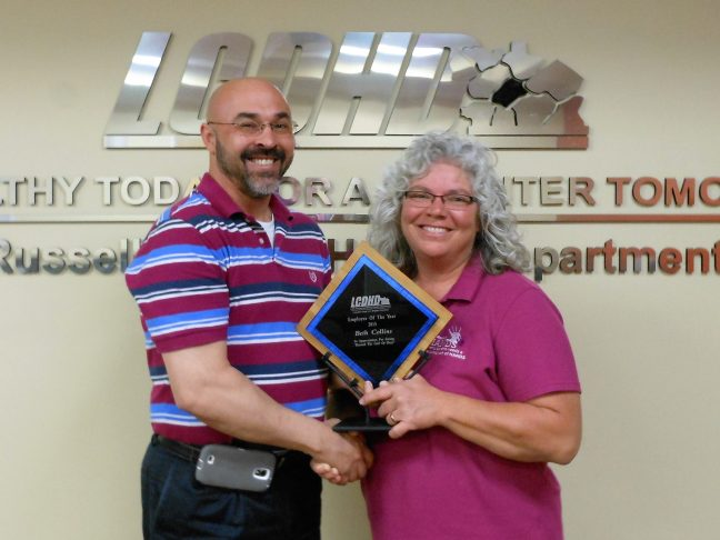 Pictured L to R: Shawn D. Crabtree, Executive Director; Beth Collins, Public Health HANDS Specialist